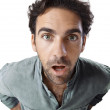 Stock Photo: Astonished man