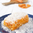 Carrot and coconut cake — Stock Photo