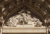 Cathedral of Seville tympanum — Stock Photo