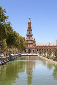 Spain Square tower vertical view — Stock Photo
