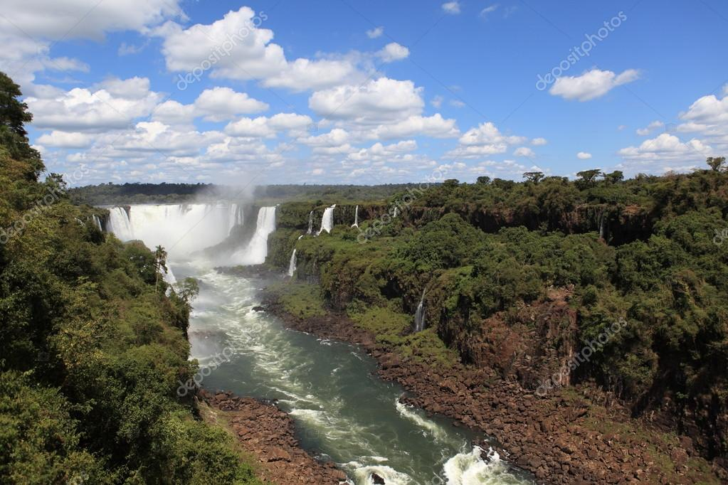 Iguazu Waterfall in Brazil — Stock Photo #20998569