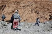Silver Mine Workers in Potosi Bolivia — Stock Photo