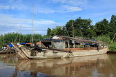 Floating Market on the Mekong River — Stockfoto
