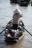 Floating Market on the Mekong River — 图库照片