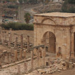 Roman Ruins in Jerash Jordan — Stock Photo