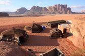 在约旦的沙漠干河朗姆酒 — 图库照片