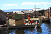 Reed Boats at Lake Titicaca — Stock Photo