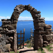 Archways at Island Taquile Lake Titicaca — Stock Photo