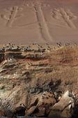 Candelabrum Paracas Peru — Stock Photo