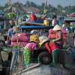 Floating Market Mekong Vietnam — Stock Photo
