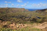 Isla de pascua volcán cráter rano kau — Foto de Stock