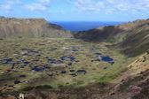Easter Island Volcano Crater Rano Kau — Stock Photo