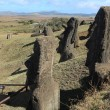 Stock Photo: Moais at Easter Island
