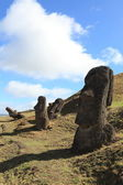 Moais at Easter Island — Foto Stock