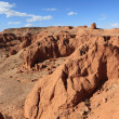 Stock Photo: Flaming Cliff of Bayanzag in Desert of Gobi Mongolia