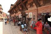 The City Bhatktapur in Kathmandu Nepal — Stock Photo
