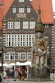 The Bremen Knight Roland Monument — Stock Photo