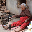 Old Poor Woman are Spinning — Stock Photo #46115019