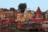 The Holy Ghats of Varanasi in India — Foto de Stock