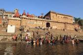The Holy Ghats of Varanasi in India — Stock Photo
