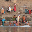 The Holy Bath in the River of Varanasi in India — Stock Photo #47315595