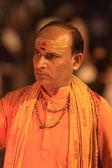 Holy Sadhu in Varanasi India — Stock Photo
