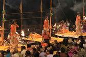Holy Hindu Ceremony in Varanasi India — Stock Photo
