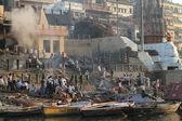 Ghat di varanasi in india — Foto Stock