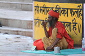 Holy Sadhu in India — Stock Photo