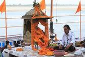 Ceremonia sagrada hindú en la india — Foto de Stock