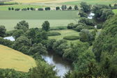 The river landscape of the Werra — Stock Photo