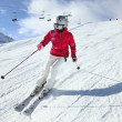 Young woman skiing — Stock Photo #20085703