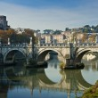 Bridge in Rome - Stock Photo