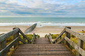 Stairs to a beach — Stock Photo