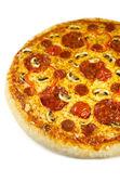 Pizza salami — Stockfoto