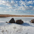 View of the Gulf of Finland, winter — Stock Photo