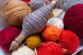 Yarn of carded wool — Stock Photo
