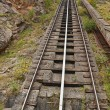 Railway climb mountain — Stock Photo