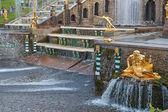 Grand Cascade fountains of Peterhof — Stock Photo