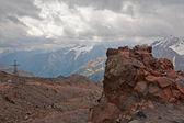 Visa från mount elbrus — Stockfoto