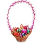 Basket with Christmas toys — Stock Photo