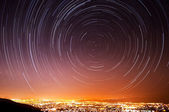 San Jose Star Trails — Stock Photo