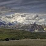 Mt. McKinley over Muldrow Glacier — Stock Photo
