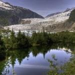Mendenhall Glacier, Juneau — Stock Photo