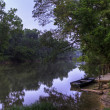 Sunrise on Meramec River - 图库照片