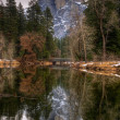 Reflecting on Half Dome — Stock Photo