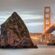 Golden Gate and Rock — Stock Photo