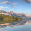 Stock Photo: Lake Sherburne Reflection Panorama