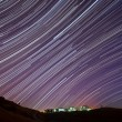 Stock Photo: IBM Almaden Research Center Star Trails