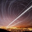 San Jose Sky Trails - Stock Photo